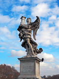 Angel di Roma - Angel with the Column on Ponte Sant'Angelo Stock Photo