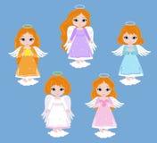 Angel Digital Clipart Metta le ragazze di angelo baptism illustrazione di stock