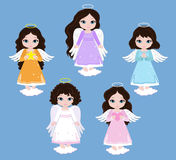 Angel Digital Clipart Metta le ragazze di angelo sul cielo baptism illustrazione vettoriale