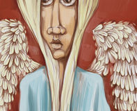 Angel digital painting Royalty Free Stock Images