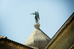 Angel on the dome. Of the church Stock Photo