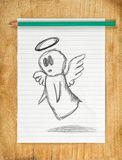Angel Doodle Drawing Royalty Free Stock Photos