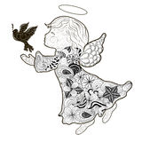 Angel doodle Royalty Free Stock Images