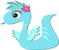 Angel Dragon with a Flower. This cute Angel Dragon has cute little wings Stock Image