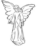 Angel drawing Royalty Free Stock Images
