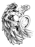 Angel drawing Stock Photo