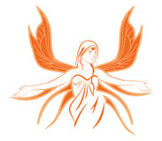 Angel. An Angel drawing in two tone colors illustration Stock Photos