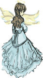 Angel Dressed in Blue Royalty Free Stock Photo