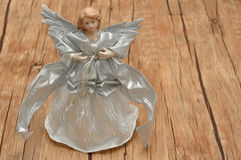 An angel dressed in silver Stock Photography