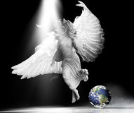 Angel earth royalty free stock photos