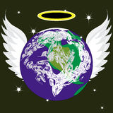 Angel Earth Royalty Free Stock Photography