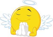 Angel emoticon Stock Image