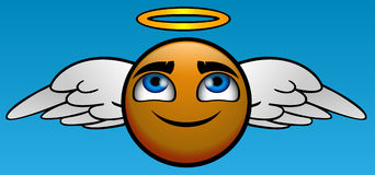 ANGEL. Emoticon take you to heaven Stock Image