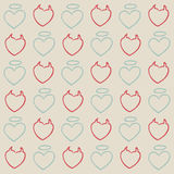 Angel and evil hearts pattern Royalty Free Stock Photo