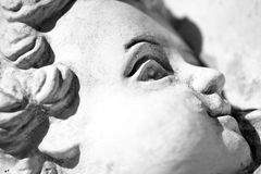 Angel Face Close up Black And White Royalty Free Stock Image