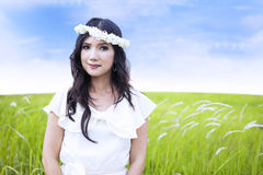 Angel face in the field Stock Image