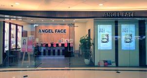 Angel Face shoppar i Hong Kong Arkivfoton