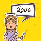 Angel Fairy Godmother-pop-art stock illustratie