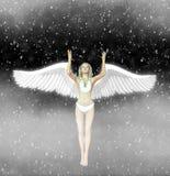 Angel Fairy Snowing Space Illustration blanco ilustración del vector
