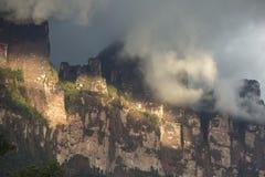 Angel Falls в небе в Венесуэле Стоковые Изображения