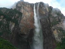 Angel Falls. Water falling from the world´s highest waterfalls in the Gran Sabana, Venezuela Stock Photography