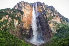 Angel Falls, Canaima national park, gran sabana, venezuela. Angel Falls meaning 'waterfall of the deepest place', or Parakupá Vená, meaning 'the fall from the royalty free stock image