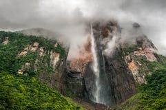 Angel Falls, de hoogste waterval van de wereld, Venezuela Stock Foto's