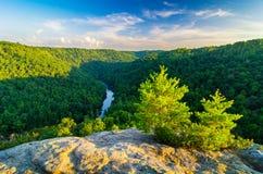 Angel Falls Overlook, grande rivière nationale de South Fork et aire de loisirs images libres de droits