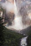 Angel Falls in Venezuela. Waterfall pouring down a cliff, Angel Falls, Venezuela stock photo