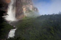 Angel Falls in Venezuela. Waterfall pouring down a cliff, Angel Falls, Venezuela royalty free stock photo