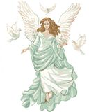Angel figure with doves. Royalty Free Stock Photos