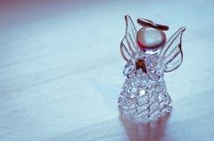 Angel figure. Pink vitreous angel figure image Stock Photography