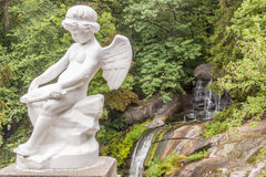 Angel figure in  Sofiyivsky park - Uman, Ukraine. Royalty Free Stock Photography