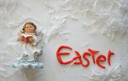 Angel Figurine, Easter Holiday Composition Stock Photo
