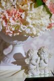 Angel. Figurine angel white standing on the surface on occasion Stock Photos