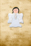 Angel first communion riser card. Riser card, first communion angel, parchment background Stock Photography