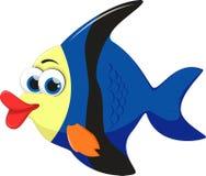 Angel fish cartoon. Illustration of angel fish cartoon Stock Photos