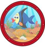 Angel fish cartoon. Illustration of angel fish cartoon Royalty Free Stock Image