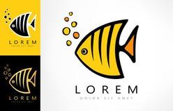 Angel fish logo. Logo design vector illustration Stock Images
