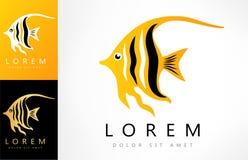 Angel fish logo. Logo design vector illustration Royalty Free Stock Images
