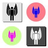 Angel. flat vector icon royalty free illustration