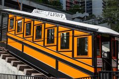Funicular Railway in Los Angeles Stock Image