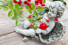 Angel between florets Stock Image