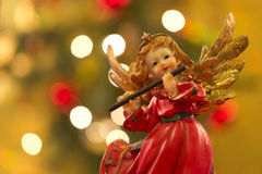 Angel with flute Royalty Free Stock Photos