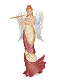 Angel with flute Royalty Free Stock Photography