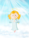 Angel flying in the heaven Royalty Free Stock Photo