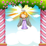 Angel flying in the sky Stock Photo