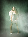 Angel in a foggy area Royalty Free Stock Image
