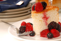 Angel food cake Royalty Free Stock Image