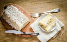 Angel Food Cake blanco Imagenes de archivo